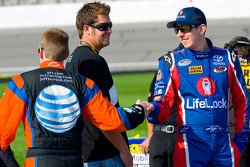 Jeff Burton and Kyle Busch