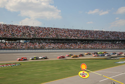 Jeff Burton leads the field
