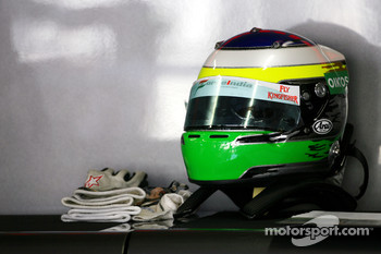 Helmet of Giancarlo Fisichella, Force India F1 Team