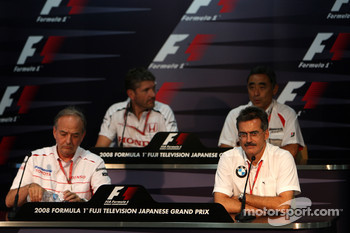 FIA press conference: John Howett, Toyota Racing, President TMG, Nick Fry, Honda Racing F1 Team, Chief Executive Officer, Hiroshi Yasukawa, Bridgestone, Dr. Mario Theissen, BMW Sauber F1 Team, BMW Motorsport Director