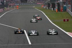 Nick Heidfeld, BMW Sauber F1 Team, Jenson Button, Honda Racing F1 Team
