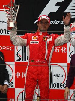 Podium: second place Felipe Massa