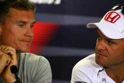 FIA press conference: David Coulthard, Red Bull Racing and Rubens Barrichello, Honda Racing F1 Team