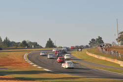 The Volkswagen TDI field going up the hill