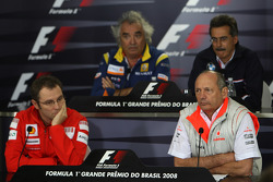 FIA press conference: Flavio Briatore, Renault F1 Team, Team Chief, Managing Director, Dr. Mario Theissen, BMW Sauber F1 Team, BMW Motorsport Director, Stefano Domenicali, Scuderia Ferrari, Sporting Director and Ron Dennis, McLaren, Team Principal, Chairm