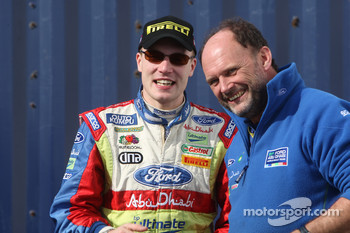 Jari-Matti Latvala and George Black find time to smile