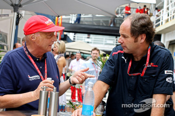 Niki Lauda and co-owner Gerhard Berger