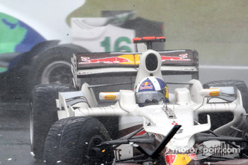 David Coulthard, Red Bull Racing crashed out at his final GP