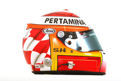 Satrio Hermanto, driver of A1 Team Indonesia helmet