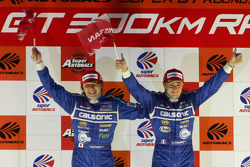GT500 podium: class and overall winners Tsugio Matsuda and Sébastien Philippe