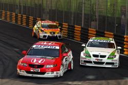 James Thompson, N. Technology, Honda Accord Euro R and Augusto Farfus, BMW Team Germany, BMW 320si