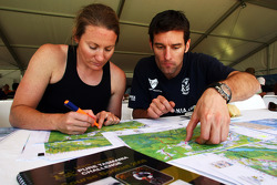 Launceston, Australia: Mark Webber and Emma Weitnauer review their course maps