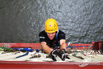 Launceston, Australia: Jarad Kohlar of Team Keen in action on the bridge climb