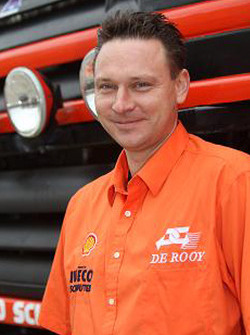 Team de Rooy: Michel Huisman, co-driver rally truck #518