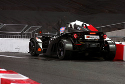 Jenson Button has a minor crash in a KTM X-Bow
