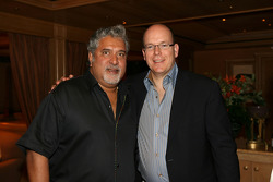 Dr Vijay Mallya Force India F1 Team Owner and HSH Prince Albert of Monaco