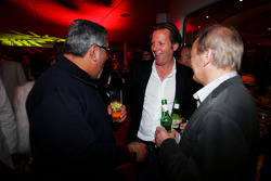 Dr Vijay Mallya Force India F1 Team Owner and Michel Mol at the Fly Kingfisher Boat Party