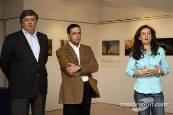 Olzoban Man Portugal Man driver Elisabete Jacinto visits the 'Ten Years Facing Challenges in Africa' photo exposition by AIFA in Lisbon