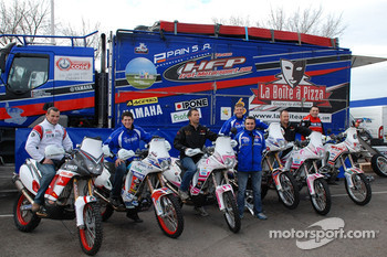 Fret-Motorsport: David Frétigné, Olivier Pain and David Barrot with the Fret-Motorsport team