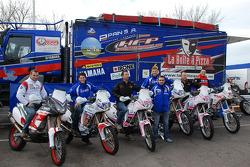 Fret-Motorsport: David Frétigné, Olivier Pain and David Barrot with the Fret-Motorsport team