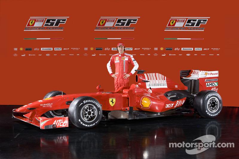Luca Badoer with the new Ferrari F60