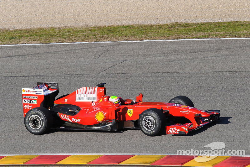 Felipe Massa tests the new Ferrari F60