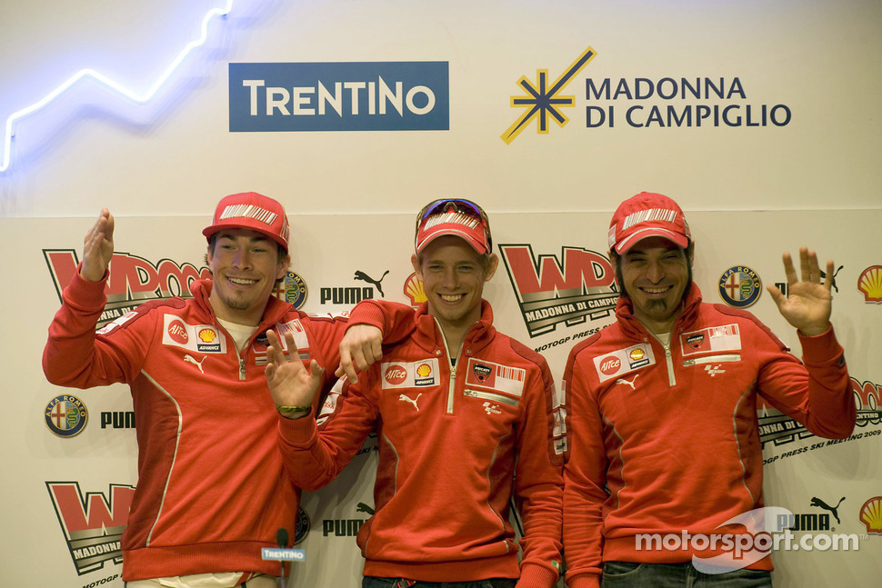 Press conference: Nicky Hayden, Casey Stoner and Vittoriano Guareschi, Ducati