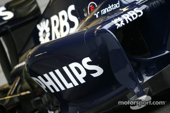 The new Williams FW 31 sidepod detail