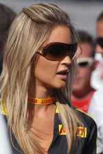A lovely Pirelli girl