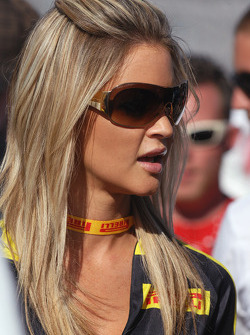 A lovely Pirelli girl