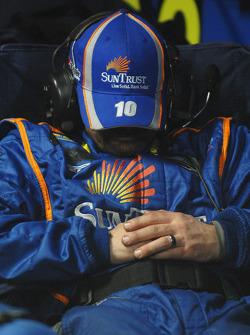 A SunTrust crew member sleeps