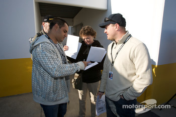 Juan Pablo Montoya and Tomas Enge