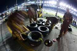 Roush Fenway Racing crew members get ready for the race