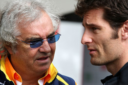 Flavio Briatore, Renault F1 Team, Team Chief, Managing Director, Mark Webber, Red Bull Racing