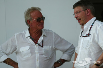 John Button with Ross Brawn