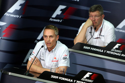 FIA press conference: Martin Whitmarsh, McLaren, Chief Executive Officer, Ross Brawn Brawn GP Team Principal