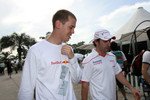 Sebastian Vettel with Timo Glock