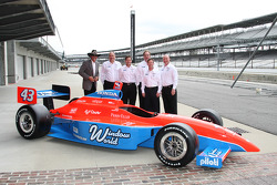 Dennis Reinbold, Robbie Buhl, John Andretti and Richard Petty unveil the No. 43