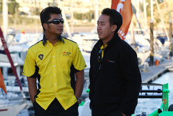 Speed demo in Portimao: Fairuz Fauzy, driver of A1 Team Malaysia and Aaron Lim, driver of A1 Team Malaysia