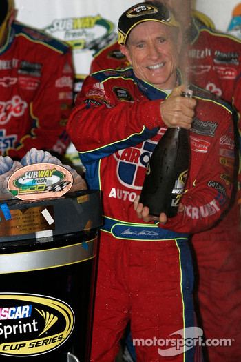 Victory lane: race winner Mark Martin, Hendrick Motorsports Chevrolet, celebrates