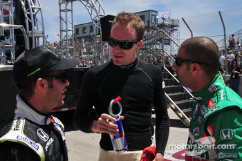 Ernesto Viso, HVM Racing, Robert Doornbos, Newman/Haas/Lanigan, and Tony Kanaan, Andretti Green Racing