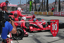 Dario Franchitti, Target Chip Ganassi comes into the pits