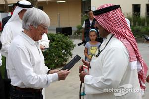 Bernie Ecclestone and Abdulla bin Isa Al Khalifa