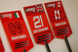 Grid boards for Gianni Giudici, Chris Buncombe Team Lavaggi and Ramez Azzam