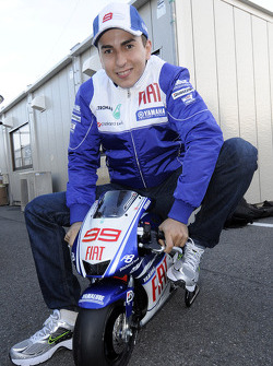 Jorge Lorenzo, Fiat Yamaha Team on a mini Yamaha