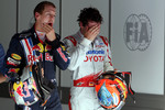 Sebastian Vettel, Red Bull Racing and Timo Glock, Toyota F1 Team