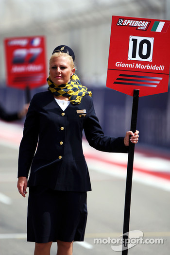 Grid girl for Gianni Morbidelli Palm Beach