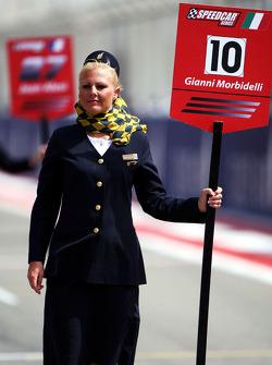 Grid girl for Gianni Morbidelli Palm Beach