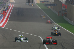 Lewis Hamilton, McLaren Mercedes and Jenson Button, Brawn GP