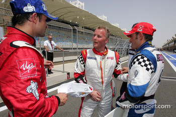 Vitantonio Liuzzi UP Team, Johnny Herbert JMB and Gianni Morbidelli Palm Beach